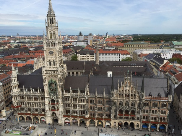 A view of Marienplatz from the top of Altes Peter. Ok fine... I admit it's a great view.