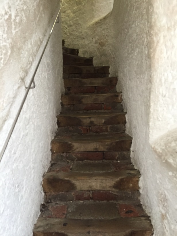 These are the first steps up the St. Peterskirche. Only 289 steps left to go!