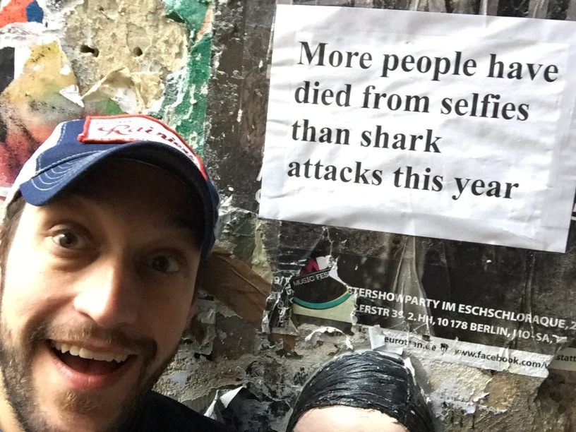 Jake Nix selfies shark attacks