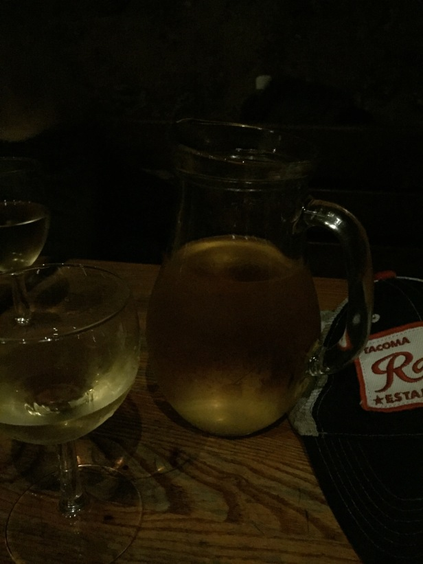 Prague: I went out with a group from my hostel to a bar where the bartender spoke no English. We thought we ordered four pitchers of beer for our group of eight. Instead we accidentally ordered four pitchers of white wine. Oops. To our credit, we did finish all of it.