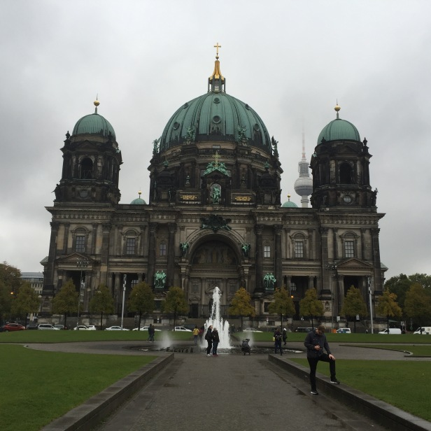 I've seen so many cool buildings on this trip. Sometimes I take pictures and I don't even know what the building is, I just know it's amazing. They're usually churches. I'm pretty sure this is also a church. (Berlin)