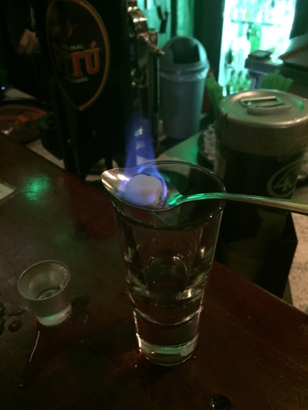 Absinthe in Berlin. I had CRAZY dreams that night.