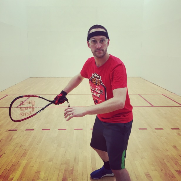 Cool racquetball dude